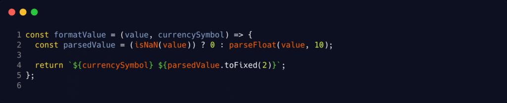 Saldo do Bitcoin com Javascript - formatValue