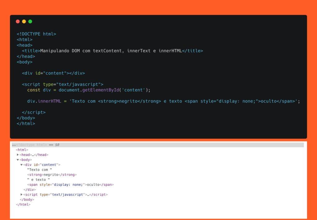 Escrevendo no DOM usando innerHTML