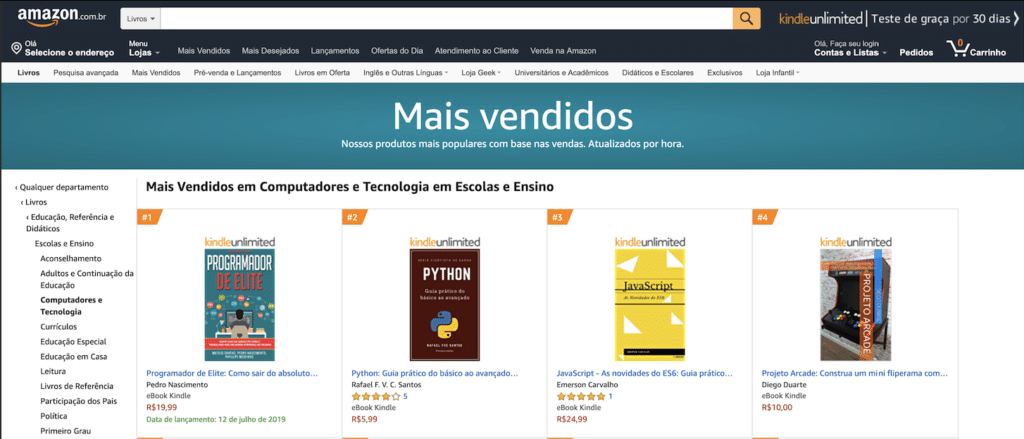 JavaScript – As novidades do ES6 no 3º lugar na Amazon
