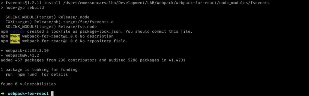 Instalando Webpack e Webpack-cli