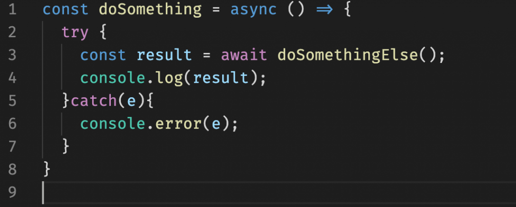 Async/Await com Try/Catch